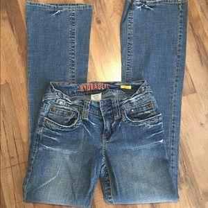 Hydraulic wide leg low rise jeans size 5-6
